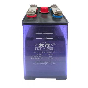 low rate 250ah nickel battery with ABS container