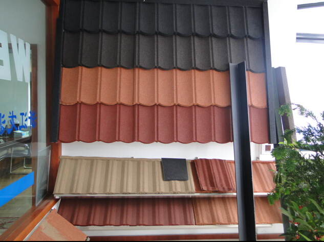 Metal stone ridge cap roofing tile making machine
