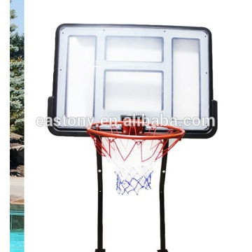 Pool and backboard basketball