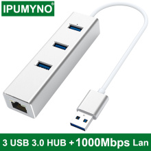 USB C 3.0 Hub RJ45 Ethernet Adapter 1000Mbps Network For Macbook Pro Air Computer Pc Laptop TV Box Accessories Type C Splitter