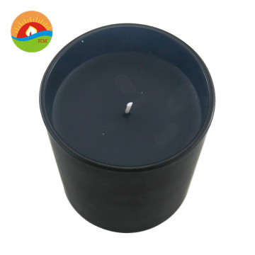 Quantity Assured 7 Day Black Glass Pillar Candle