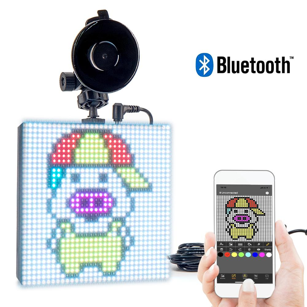 Bluetooth 12V RGB CAR led Sign APP Control GIF Programmable Scrolling Message LED Display Board Screen Support Drop shipping