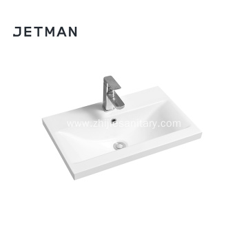 Square imported wash basin top mount vanity