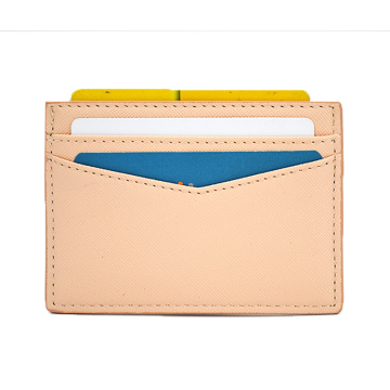 Slim Wallet Front Pocket Leather Credit Card Holder