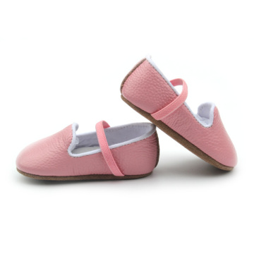 Light Pink Genuine Leather Baby Soft Shoes Toddler