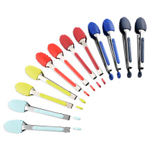 Cooking Stainless Steel and Silicone Tongs