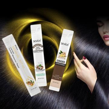 Nutrition Argan Oil Coconut Oil Ginger Nourishing Repair Damaged Hair Mask Soft Hair Scalp Treatment Mask 10ml Dropship TSLM1