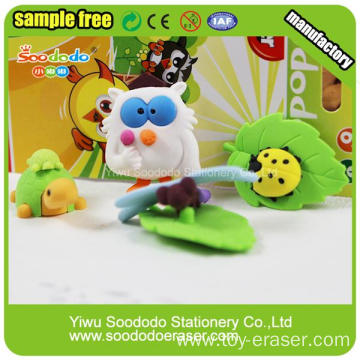 Blister Card Packing Owl Animal Shaped Eraser