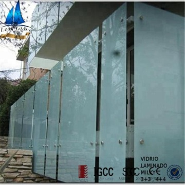 White Milk / Opaque / White Laminated Glass