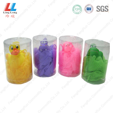 Animal sightly mesh sponge ball