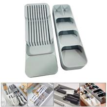 YOMDID Cutlery Storage Tray Knife Holder Tableware Organizer Spoon Fork Storage Box Plastic Container plateau Knife Block Holder