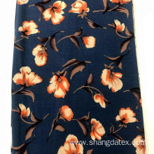 Flower Design Rayon Crepe Print Fabric