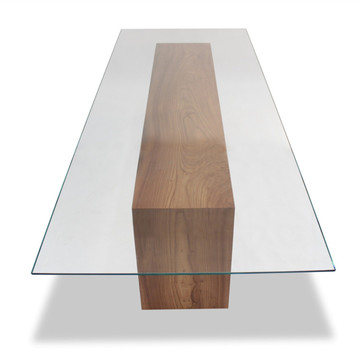 Clear Cut Size Rectangle Tempered Dinning Table Glass
