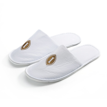 Cheap cotton fabric hotel slippers