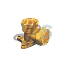 Brass compression 90 degree Wall plate elbow