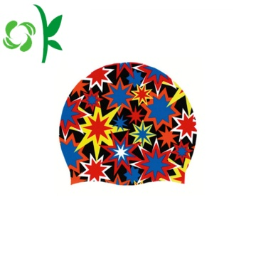 Round Printing Silicone Fashionable Swim Cap High Quality