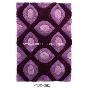 3D Carpet with soft&silk mix yarn