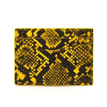 New Arrival Exotic Python Leather Credit Card Holder