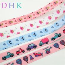 DHK 7/8'' 5yards cat car plane animals Printed Grosgrain Ribbon Accessory hairbow headwear decoration Wholesale DIY OEM E1700