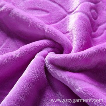 A thick purple blanket
