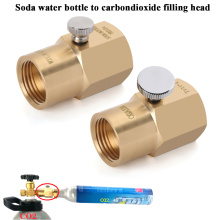 CO2 Adapter TR21-4 to W21.8-14 Cylinder Refill Adaptor with Bleed Valve For Sodastream Cylinder Connector Kit Filling Keg Regula