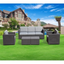 Outdoor round rattan Furniture Patio Plastic Sofa