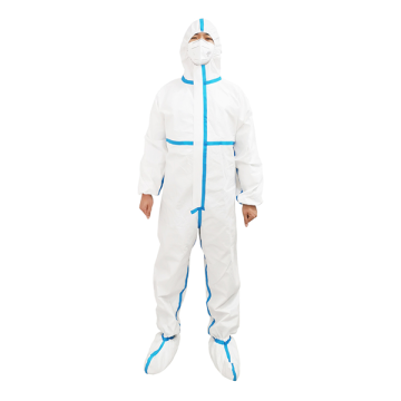 Full Body Chemical Resistant Disposable Protective Coveralls