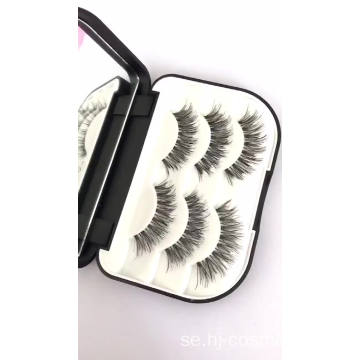 Factory Direct Supply 3 par Private Label False Eyelashes / fales-fransar Wholesale Cheap Eyelashes 3D Mink-ögonfransar
