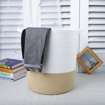 Hot-selling Cotton Rope Collapsible Laundry Storage Basket