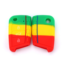 VW New Green Silicone Key Portect Case