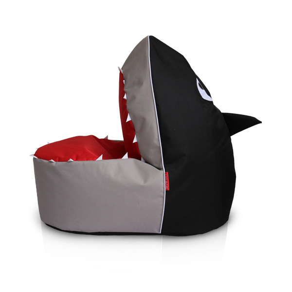 Grey Shark Beanbag