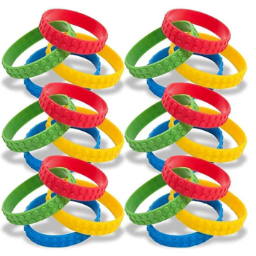 New Building Block Colorful Stretchy Rubber Wristbands