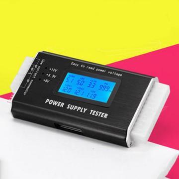 Check Quick Digital LCD Power Bank Supply Tester Computer 20/24 Pin Power Supply Tester Support 4/8/24/ATX 20 Pin Interface HOT