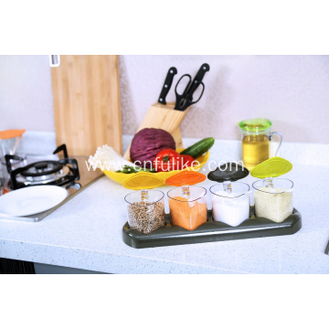Fashion Plastic Seasoning Box Set Spice Jars