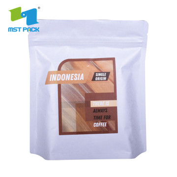 Standing kraft paper box coffee powder pouches bags zipper