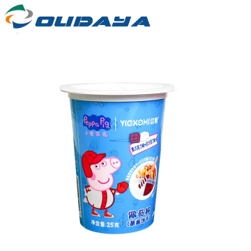 yogurt ice cream plastic cup tamper proof seal