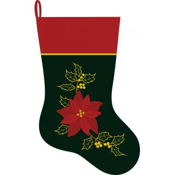 2020 Christmas Velvet stocking with Flower