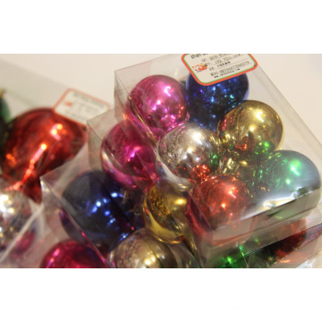 6Pack Assorted Color Shiny Christmas Ball Ornament