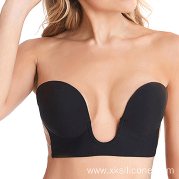 Push up one piece silicone adhesive invisible bra