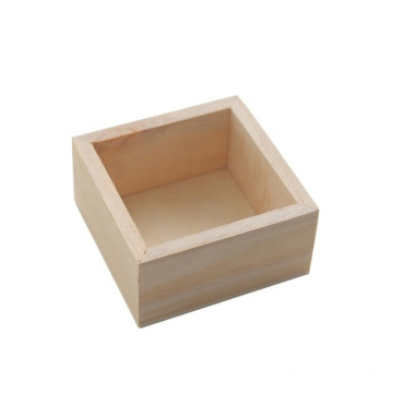 Natural Color Pine Wood Ring Box