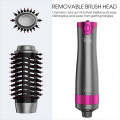 Hot air paddle brush heated brush styler