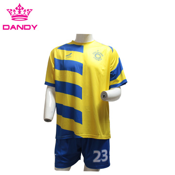 Yellow mens soccer jerseys