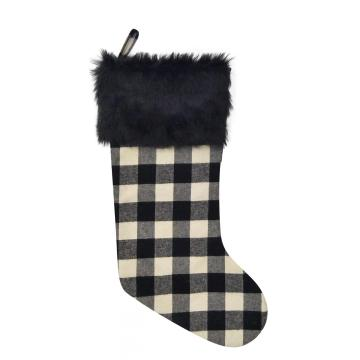 Oversized plaid stocking gift packing  Christmas Socks