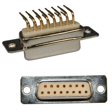D-SUB RA FEMALE MACHINE PIN 7.2mm FOOTPRINT