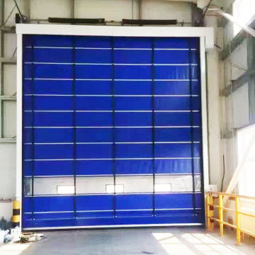 Automatic folding up high speed stacking door