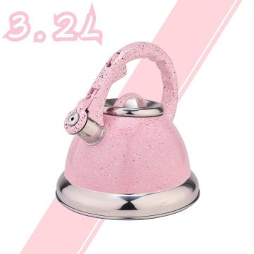 Pink Mirror Stainless Steel Whistling Water Kettle