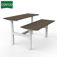 Office Computer Desk With Lift Metal Leg Frame