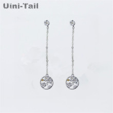 Uini-Tail hot 925 sterling silver Korean cherry long ear wire literary temperament ring plum earrings small fresh flower earring