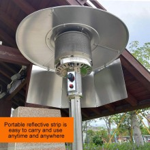 Youger Patio Heater Reflective Outdoor Heater Reflector Hood Patio Outdoor Heater Propane And Natural Gas Folding Outdoor Heater