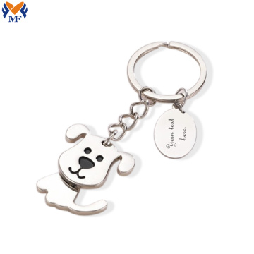 Metal soft enamel key chain custom